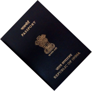 indian passport frt page