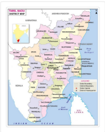 Tamil Nadu Map Download free in pdf - infoandopinion