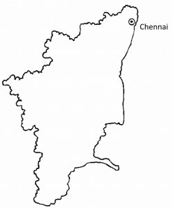 Tamil Nadu map outline