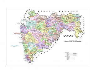 Maharashtra map Divisions