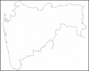 maharashtra map out line