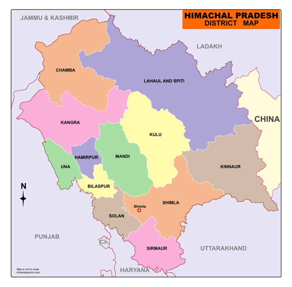 himachal pradesh political map Himachal Pradesh Map Download Map Of Himachal Pradesh Free Pdf himachal pradesh political map