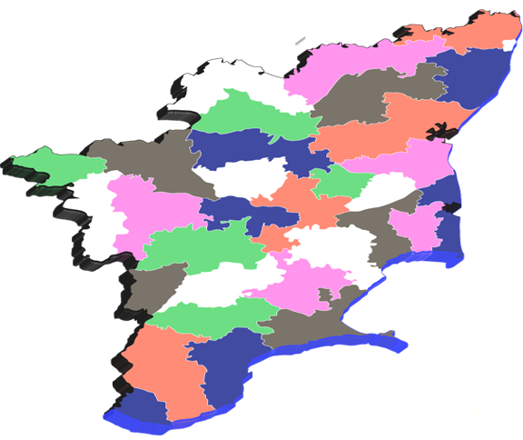 How many districts in Tamilnadu