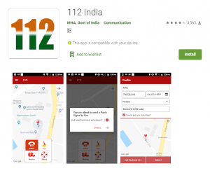Government of India Apps 112india