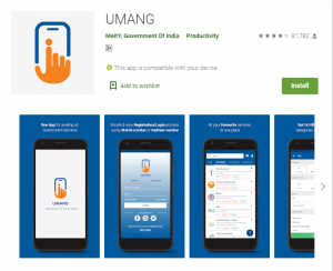 Government of India Apps Umang