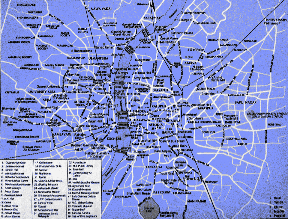 Tourist Places in Ahmedabad and Ahmedabad Map