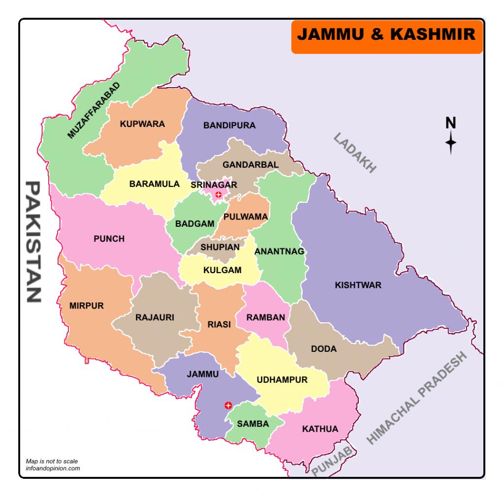 Download Jammu and kashmir Map